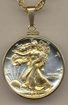 Walking Liberty Half Dollar Coin Necklace