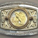 Walking Liberty Coin Belt Buckle Eagle