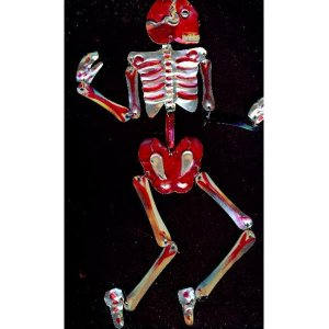 Mexican Day of the dead tin skeleton