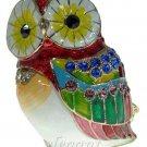 Owl Bird Crystals Jewellery Jewelry Jewel Trinket Box