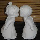 Kissing Angels Ceramic Bisque Ready To Paint