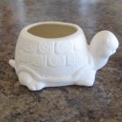 Mini Turtle Flower Pot Ceramic Bisque Ready To Paint