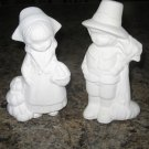 Thanksgiving Pilgrims Ceramic Ready to Paint Bisque