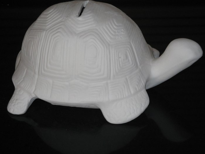 Ceramic Turtle Bank Ready To Paint Bisque