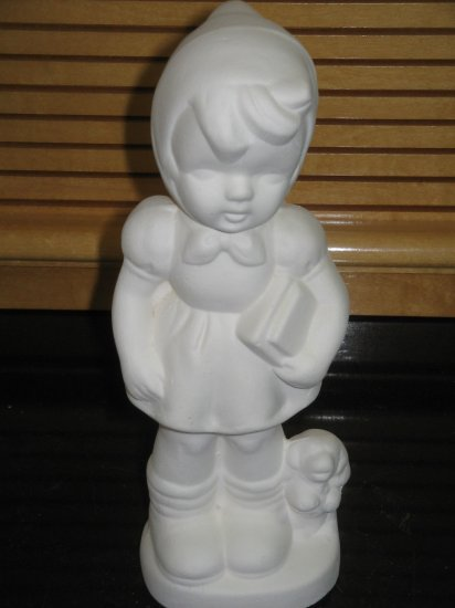 Ceramic Ready to Paint Bisque Hummel Girl