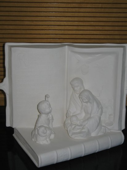 Bible Nativity Ceramic Bisque Ready To Paint