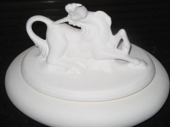 Ready To Paint Ceramic Unicorn Trinket Box