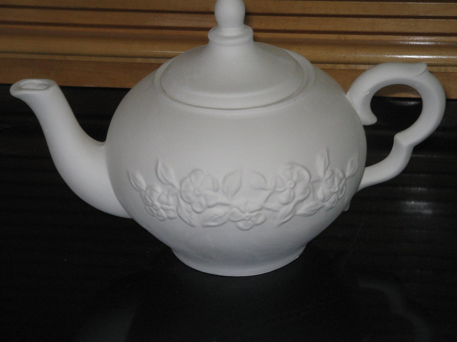 Ready To Paint Tea Pot Floral Design Ceramic Bisque U Paint