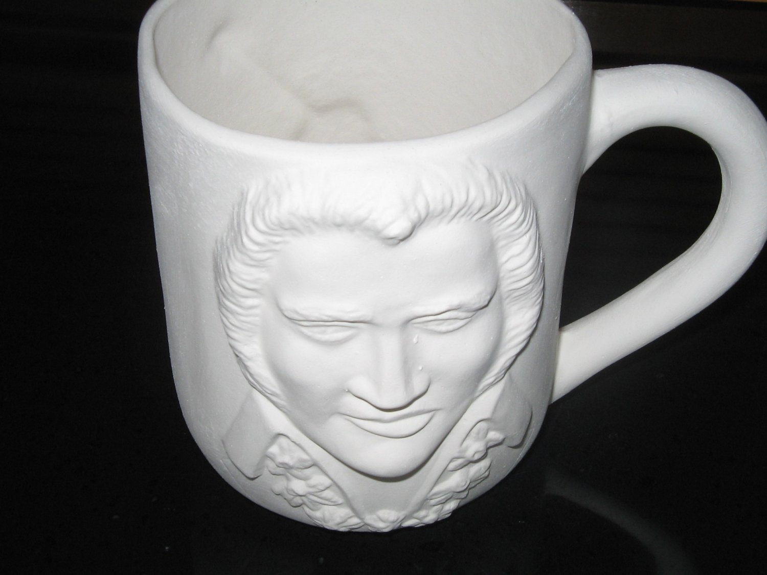 Ready To Paint Elvis Coffee Mug Ceramic Bisque U Paint
