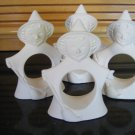Halloween Witch Napkin Ring Holders Ceramic Bisque Ready To Paint U Paint Ceramics