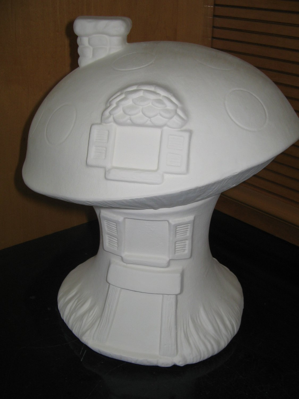 Ready To Paint Ceramic Mushroom House U Paint Ceramics