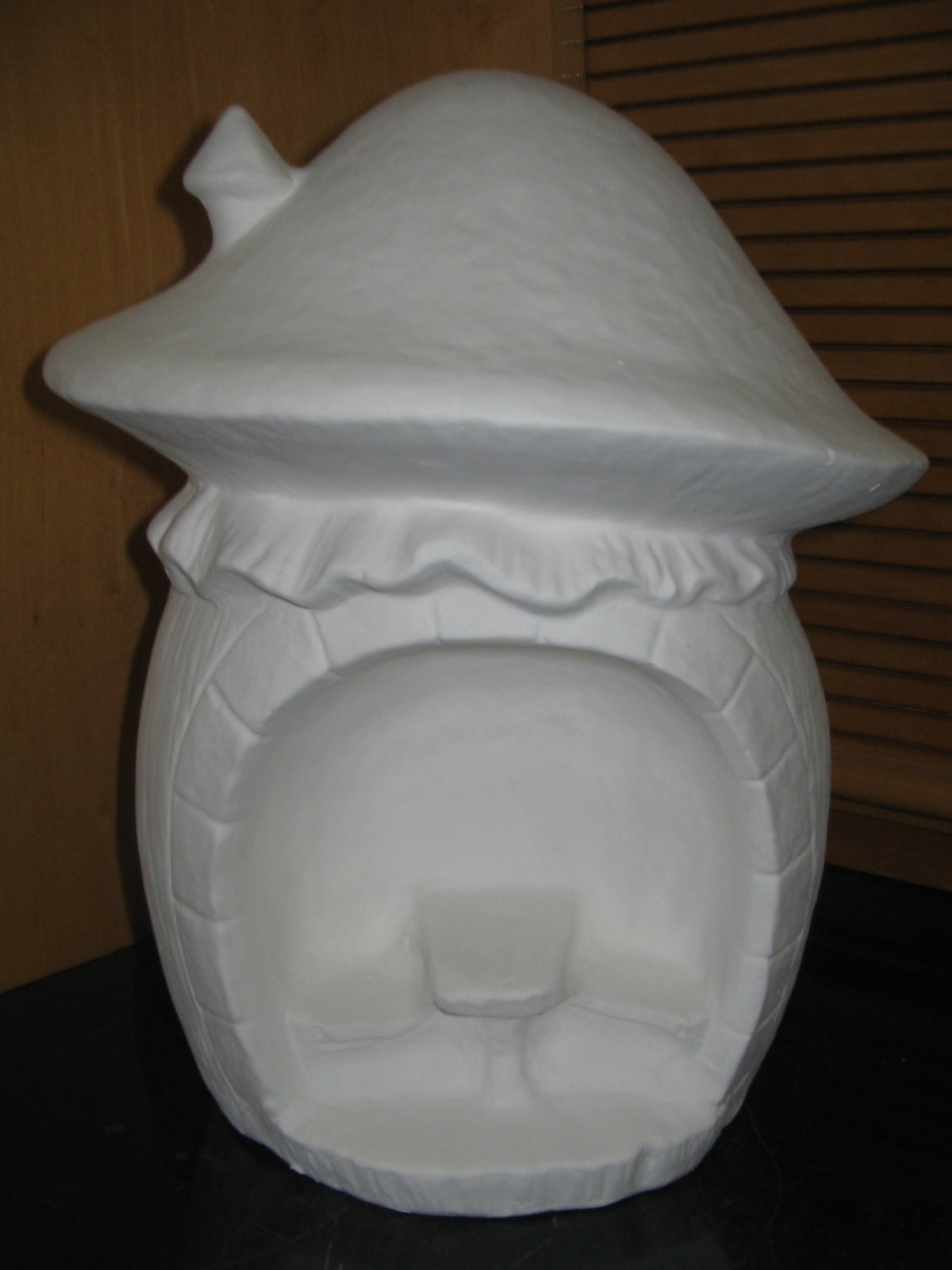 U Paint Ceramic Mushroom House With Bench And Table Ready To Paint Ceramic Bisque