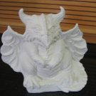 U Paint Ceramic Gargoyle With Horns Ready To Paint Bisque
