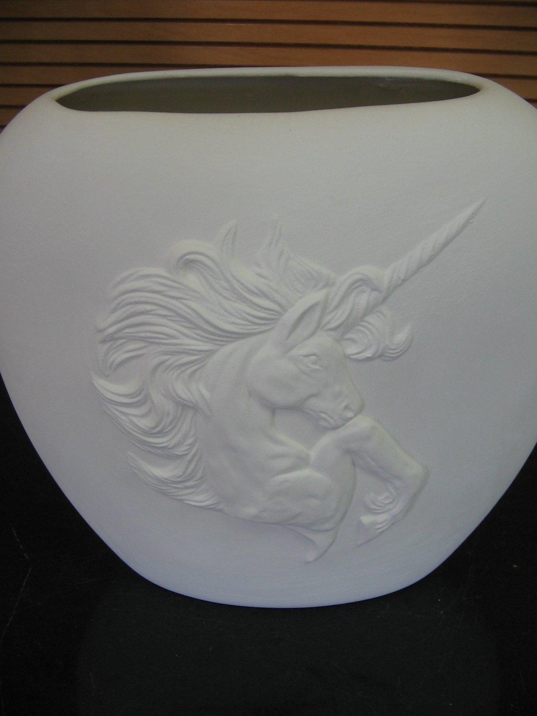 Ready To Paint Ceramic Bisque Unicorn Pillow Vase U Paint Ceramics