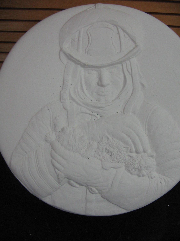 Ready To Paint Fireman Trinket Box Ceramic Bisque U Paint Ceramics