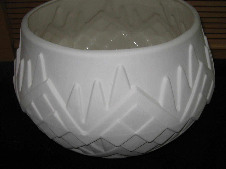 Large Southwestern Look Flower Pot Planter Ceramic Bisque Ready To Paint Ceramics