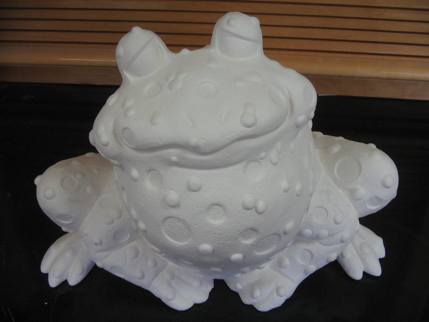 Ready To Paint Large Sitting Toad Ceramic Bisque U Paint