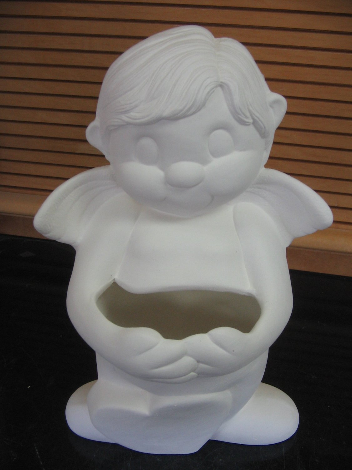 Ready To Paint Cupid With Arm Pockets Ceramic Bisque U Paint Ceramics