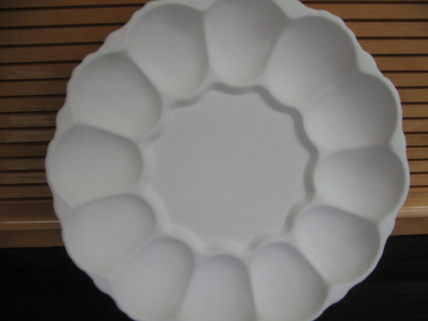 Deviled Egg Plate Scalloped Edges Ready To Paint Ceramic Bisque U Paint
