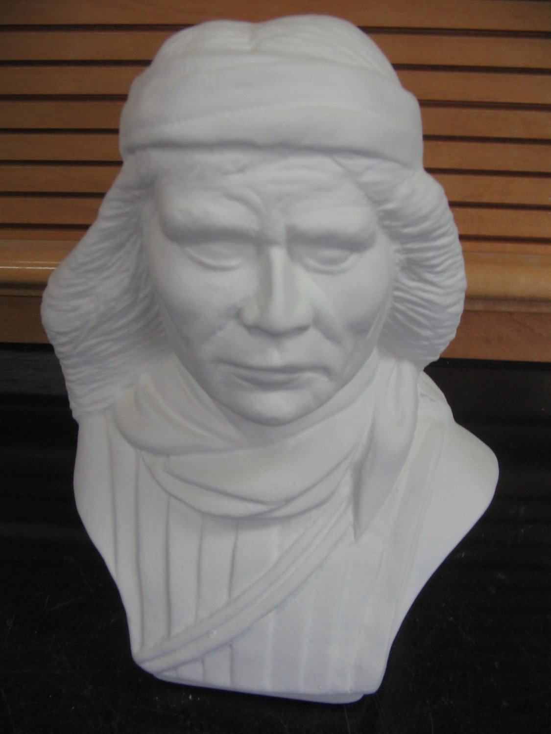Ready To Paint Native American Indian Brave Bust U Paint Ceramics Bisque