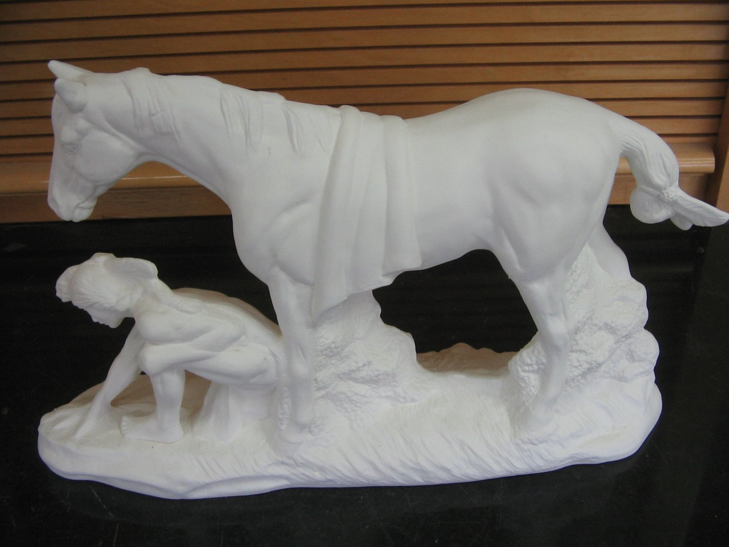 U Paint Native American Indian Tracker With Horse Ceramic Bisque Ready To Paint