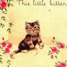 Vintage Greeting Card Kitten Cat Mitten Pop-Ip