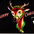 Vintage Christmas Card Santa's Reindeer Jingle Bells Pop-Up