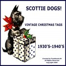 Scottie Dog Gift Tags Vintage Christmas Images On CD