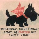 Scottie Dog Red Bow Vintage Christmas Card Image