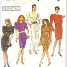 Sewing Pattern VTG power shoulder dress Simplicity 7367 new FREE SHIPPING