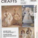 "Sew Free Dolls Fabric wrap & glue Rabbit, Chef, 11"" dolls McCalls 7055 FREE SHIPPING"