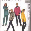 TOPS pull-on PANTS stretch KNITS McCalls 8521 sewing pattern FREE SHIPPING
