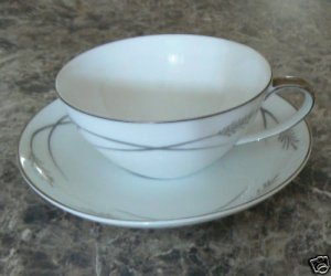 Mikasa Grace-ine Pattern Cup and Saucer Set Graceine
