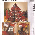 COUNTRY CHRISTMAS Tree wreath stocking ornament PATTERN McCalls 7772 Free Shipping