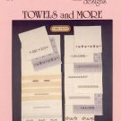 Counted cross stitch towel pillow borders alphabet by Lucky Duck Designs