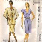 DRESS & Jacket Sewing pattern 6 - 14 McCalls 3581 UNCUT Free Shipping