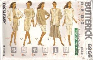Wardrobe Sewing pattern 6 - 14 Butterick 6966 UNCUT Free Shipping