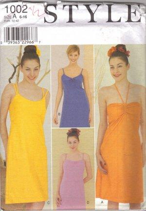 Strappy DRESS Sewing Pattern STYLE #1002 Uncut FREE SHIPPING