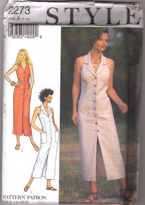 Sleeveless Summer DRESS Sewing Pattern Style 2273 Uncut