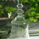 """Vintage Crystal Bell Handcrafted Etch glass 7"""" Hungary"""