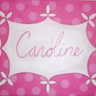 Hand Painted Art: Caroline