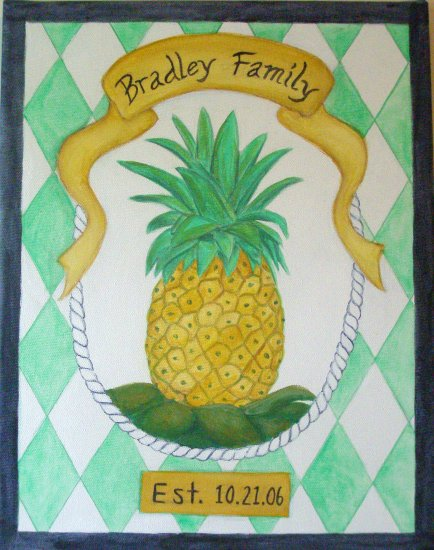Hand Painted Art: Pineapple