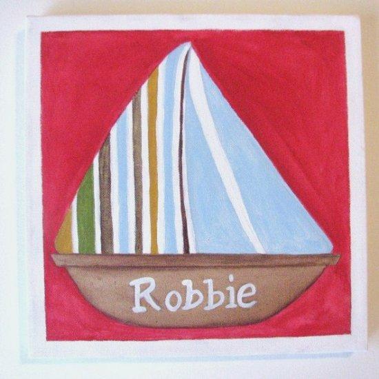 Hand Painted Art: Robbie