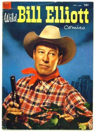 * WILD BILL ELLIOTT #13 Dell Comics 1954 -- Classic Western -- Photo Cover