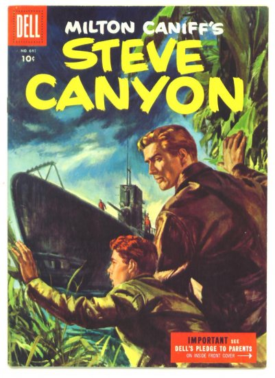 STEVE CANYON Dell Comics FC #641 Milton Caniff