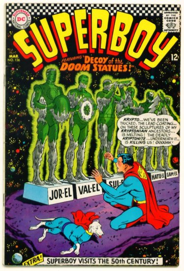 SUPERBOY #136 DC Comics 1967 White Kryptonite
