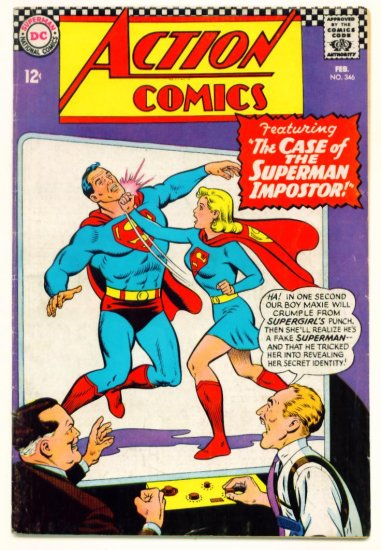 Superman Supergirl ACTION COMICS #346 DC 1967