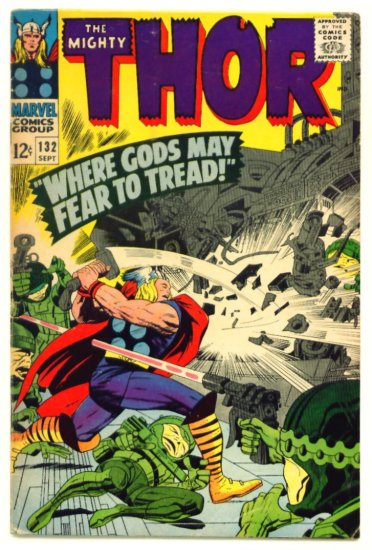 THOR #132 Marvel Comics 1966 Jack Kirby FIRST APPEARANCE OF EGO