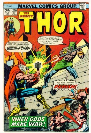 THE MIGHTY THOR #240 Marvel Comics 1975