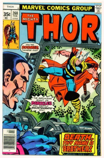 THE MIGHTY THOR #268 Marvel Comics 1978